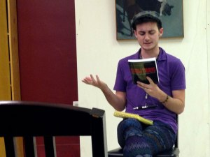 Author Elliott DeLine reads from his new boot, Show Trans, Oct. 15 at Buffalo Street Books in downtown Ithaca.